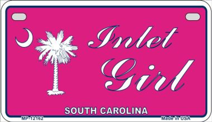 Inlet Girl SC Pink Wholesale Novelty Metal Motorcycle Plate MP-12162
