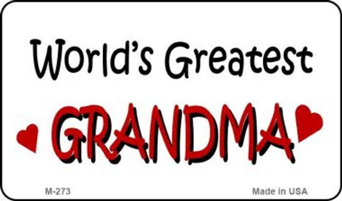 Worlds Greatest Grandma Wholesale Novelty Metal Magnet M-273