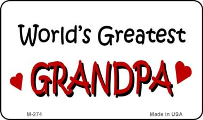 Worlds Greatest Grandpa Wholesale Novelty Metal Magnet M-274