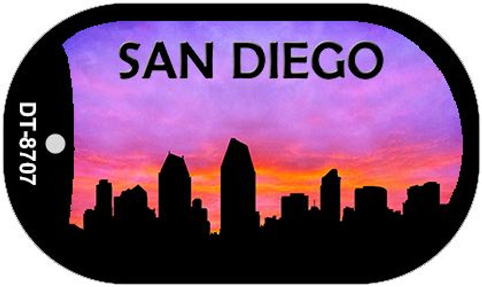 San Diego Silhouette Wholesale Novelty Metal Dog Tag Necklace DT-8707
