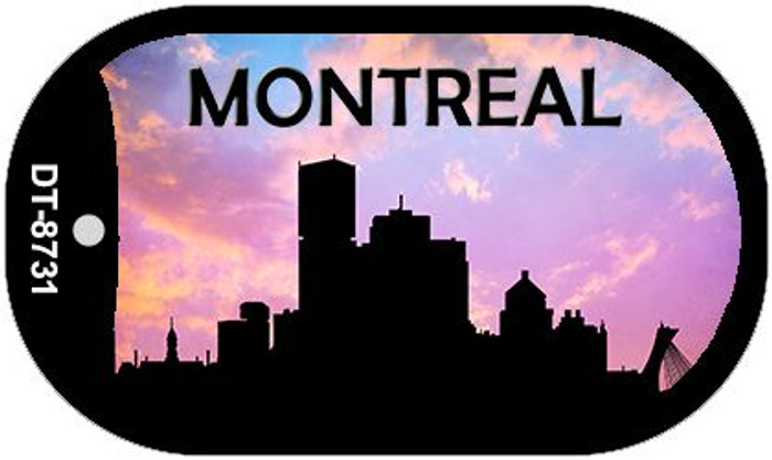 Montreal Silhouette Wholesale Novelty Metal Dog Tag Necklace DT-8731