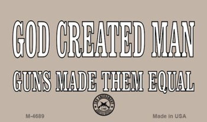 God Created Man Wholesale Novelty Metal Magnet M-4689