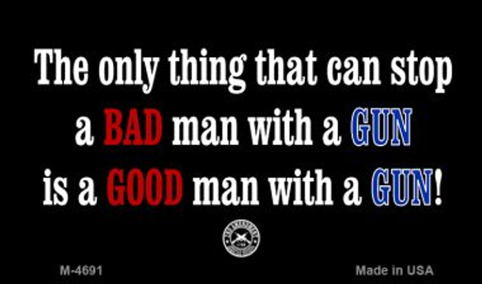 A Bad Man With A Gun Wholesale Novelty Metal Magnet M-4691