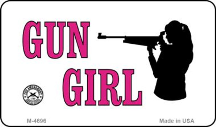 Gun Girl Wholesale Novelty Metal Magnet M-4696