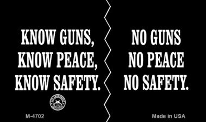 Know Guns No Guns Wholesale Novelty Metal Magnet M-4702
