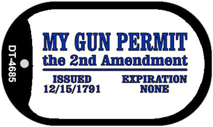 My Gun Permit Wholesale Novelty Metal Dog Tag Necklace DT-4685