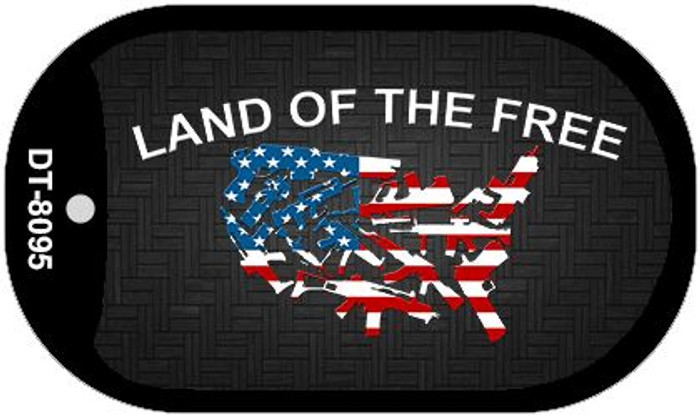 Land of the Free Wholesale Novelty Metal Dog Tag Necklace DT-8095