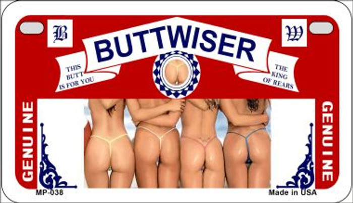 Buttwiser Wholesale Novelty Metal Motorcycle Plate MP-038