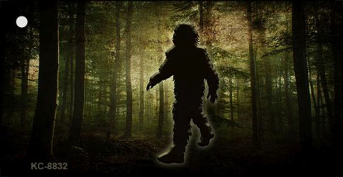 Bigfoot in the Woods Wholesale Novelty Metal Key Chain KC-8832