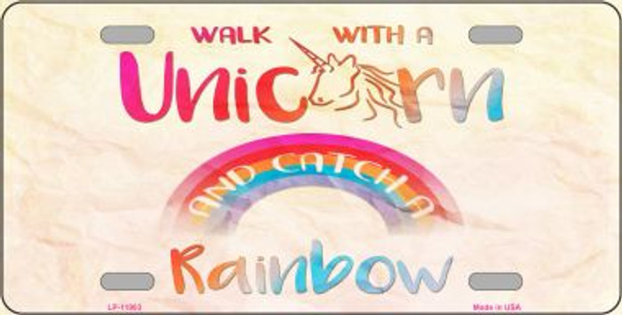 Walk with a Unicorn Wholesale Novelty Metal License Plate LP-11903