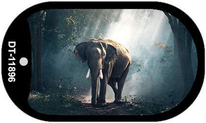 Elephant in the Woods Wholesale Novelty Metal Dog Tag Necklace DT-11896