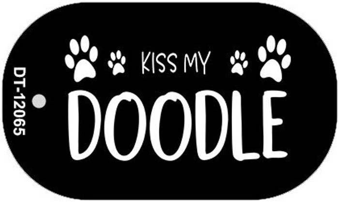 Kiss My Doodle Wholesale Novelty Metal Dog Tag Necklace DT-12065