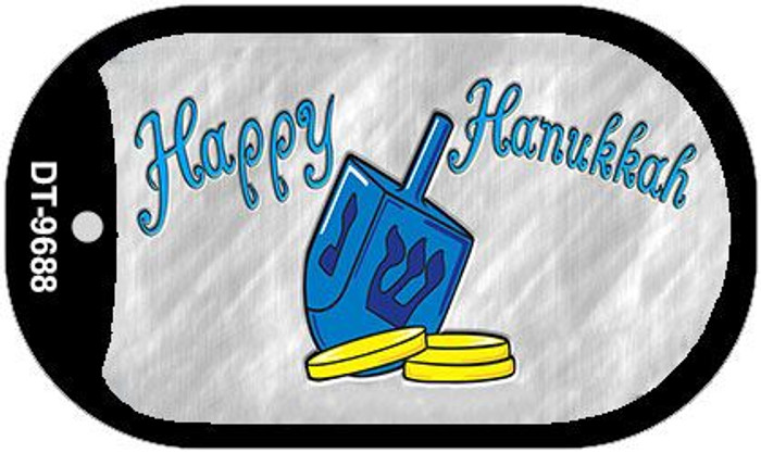 Happy Hanukkah Dreidel Wholesale Novelty Metal Dog Tag Necklace DT-9688
