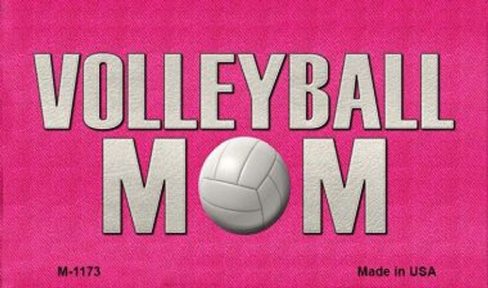 Volleyball Mom Wholesale Novelty Metal Magnet M-1173