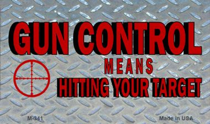 Gun Control Wholesale Novelty Metal Magnet M-341