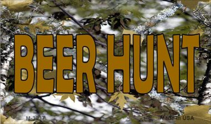 Beer Hunt Camouflage Wholesale Novelty Metal Magnet M-3937