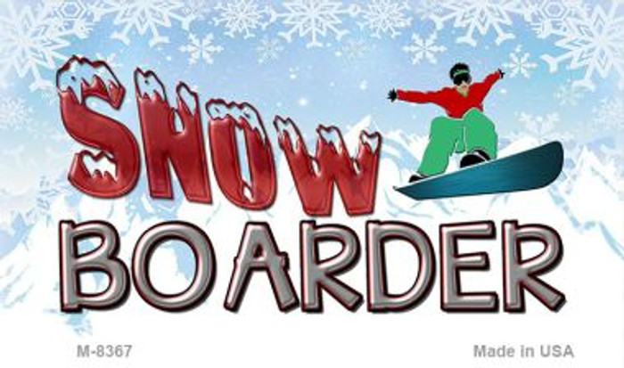 Male Snow Boarder Wholesale Novelty Metal Magnet M-8367