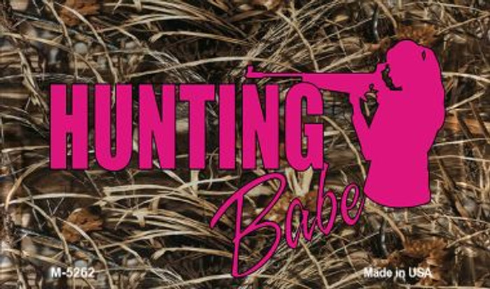 Hunting Babe Wholesale Novelty Metal Magnet M-5262