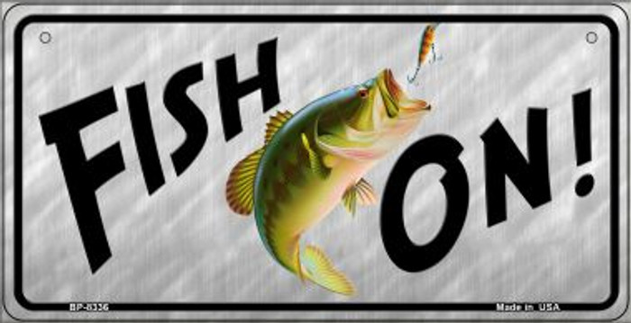 Fish On Wholesale Novelty Metal Bicycle Plate BP-8336