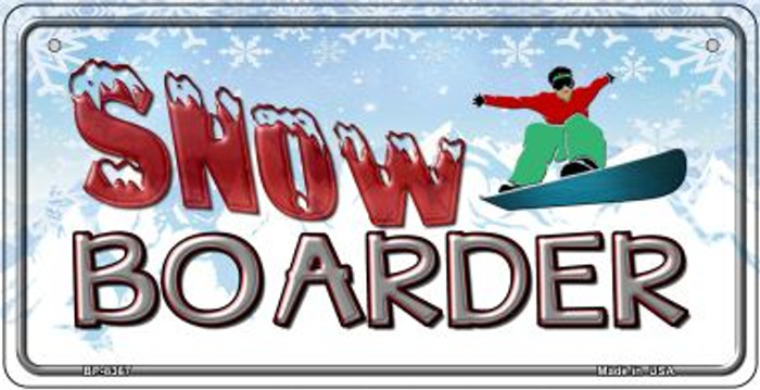 Male Snow Boarder Wholesale Novelty Metal Bicycle Plate BP-8367