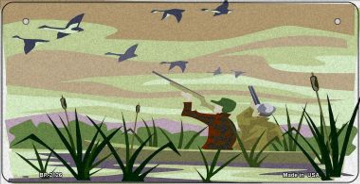 Duck Hunting Wholesale Novelty Metal Bicycle Plate BP-2126