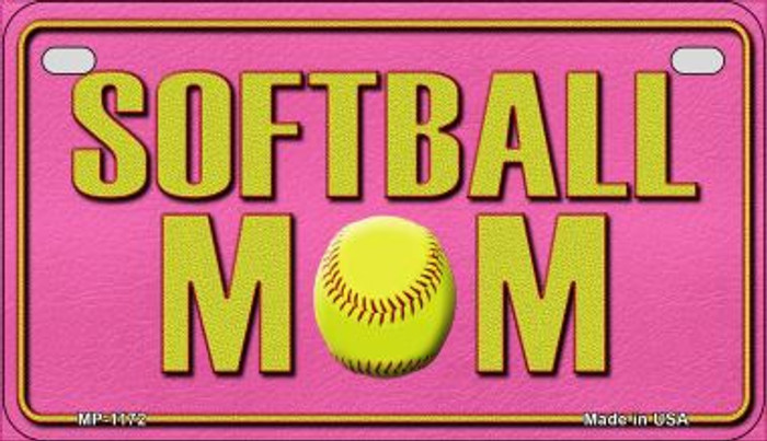 Softball Mom Wholesale Novelty Metal Motorcycle Plate MP-1172