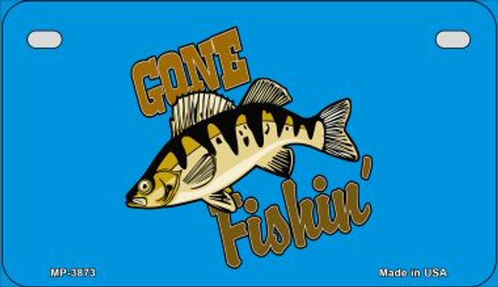 Gone Fishing Wholesale Novelty Metal Motorcycle Plate MP-3873