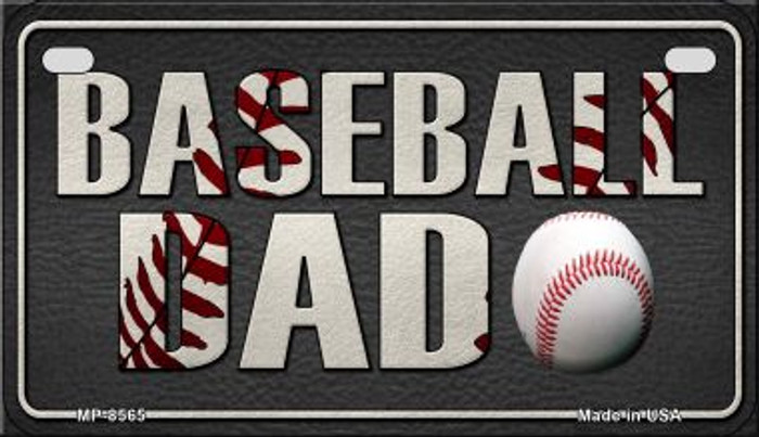 Baseball Dad Wholesale Novelty Metal Motorcycle Plate MP-8565