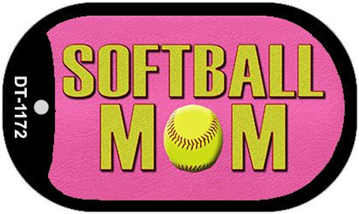 Softball Mom Wholesale Novelty Metal Dog Tag Necklace DT-1172
