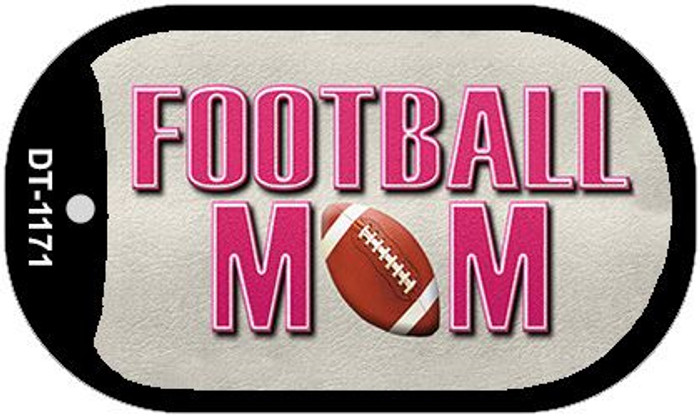 Football Mom Wholesale Novelty Metal Dog Tag Necklace DT-1171