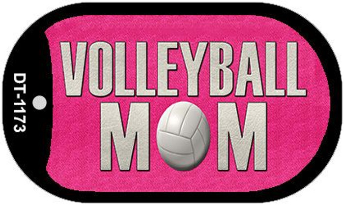 Volleyball Mom Wholesale Novelty Metal Dog Tag Necklace DT-1173