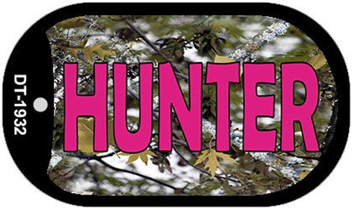 Hunter Pink Wholesale Novelty Metal Dog Tag Necklace DT-1932