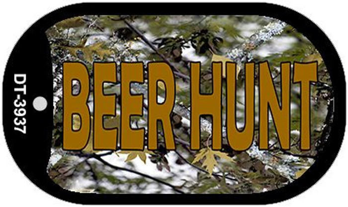 Beer Hunt Camouflage Wholesale Novelty Metal Dog Tag Necklace DT-3937
