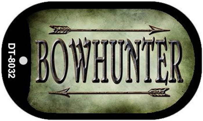 Bowhunter Wholesale Novelty Metal Dog Tag Necklace DT-8032