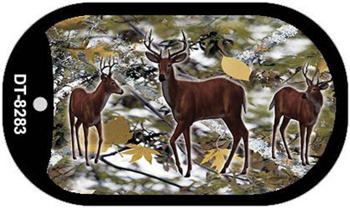Deer on Camo Wholesale Novelty Metal Dog Tag Necklace DT-8283