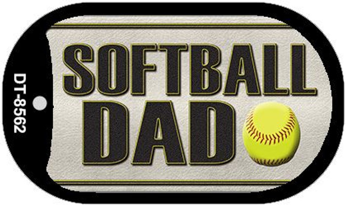 Softball Dad Wholesale Novelty Metal Dog Tag Necklace DT-8562