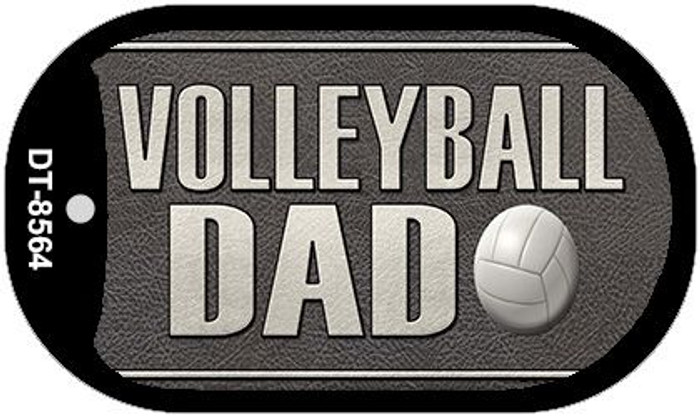 Volleyball Dad Wholesale Novelty Metal Dog Tag Necklace DT-8564