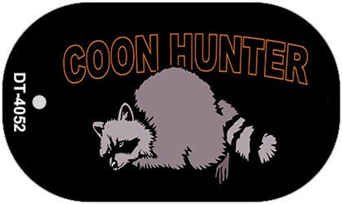 Coon Hunter Wholesale Novelty Metal Dog Tag Necklace DT-4052