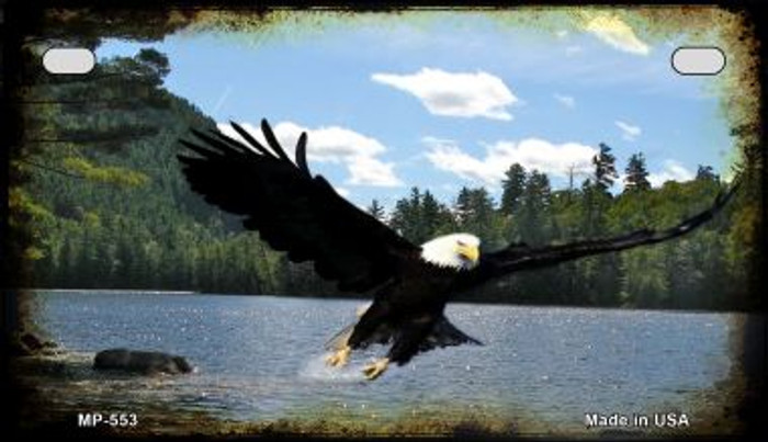 Eagle Over Water Wholesale Novelty Metal Motorcycle Plate MP-553