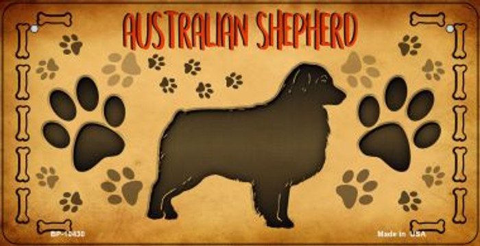 Australian Shepard Wholesale Novelty Metal Bicycle Plate BP-10430