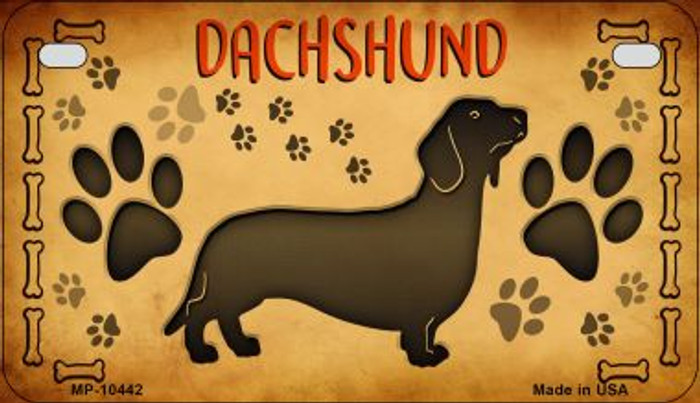 Dachshund Wholesale Novelty Metal Motorcycle Plate MP-10442