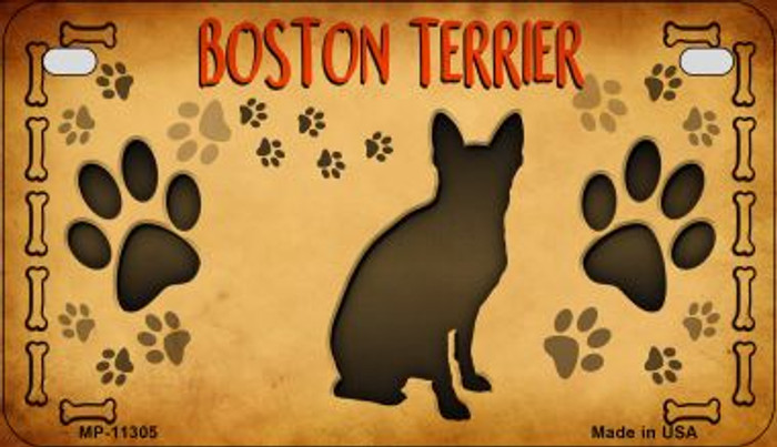 Boston Terrier Wholesale Novelty Metal Motorcycle Plate MP-11305