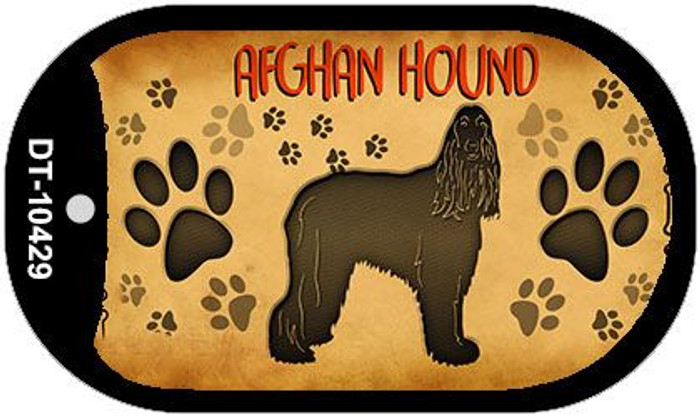 Afghan Hound Wholesale Novelty Metal Dog Tag Necklace DT-10429