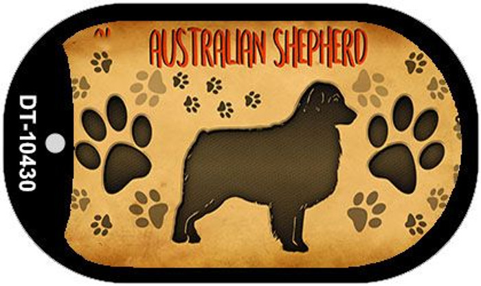Australian Shepard Wholesale Novelty Metal Dog Tag Necklace DT-10430
