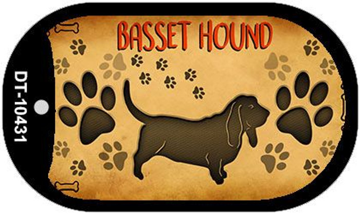 Basset Hound Wholesale Novelty Metal Dog Tag Necklace DT-10431