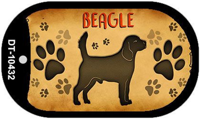 Beagle Wholesale Novelty Metal Dog Tag Necklace DT-10432