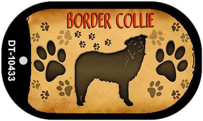 Border Collie Wholesale Novelty Metal Dog Tag Necklace DT-10433