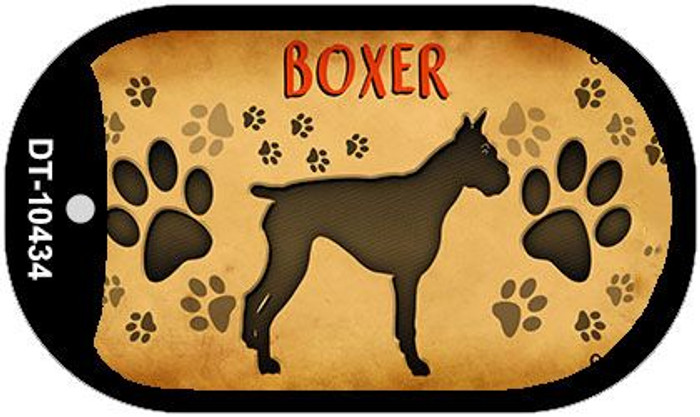 Boxer Wholesale Novelty Metal Dog Tag Necklace DT-10434