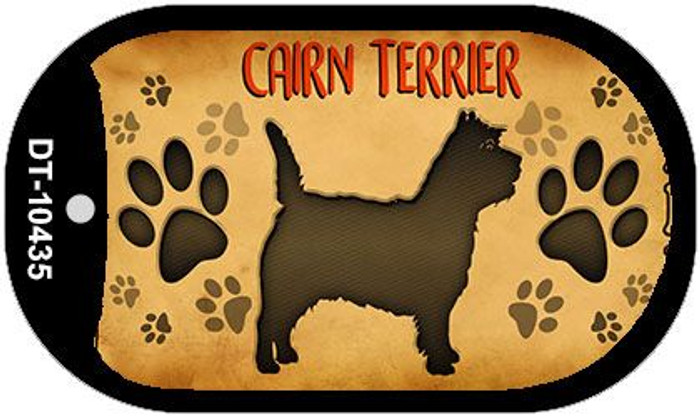 Cairn Terrier Wholesale Novelty Metal Dog Tag Necklace DT-10435