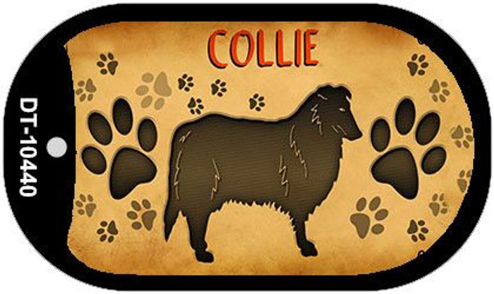 Collie Wholesale Novelty Metal Dog Tag Necklace DT-10440